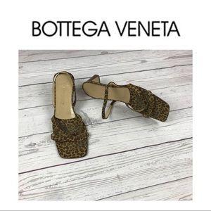 Bottega Vaneta Animal Print Sandals.  Sz 8.5
